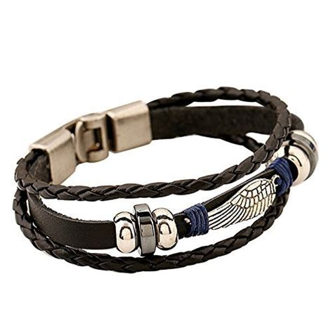 comfort women bracelet eagle wing vintage genuine leather 3 strand unisex