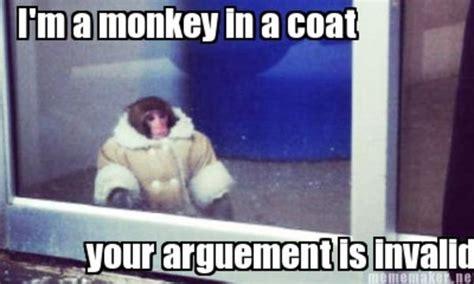 Ikea Monkey Meme - ikea monkey argument is invalid ikea monkey know your meme