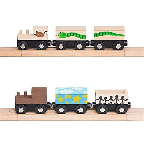 brio train cars orbrium toys unpainted wooden train cars compatible with