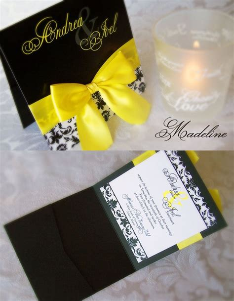 Wedding Invitation Cards Yellow by Yellow And Black Wedding Invitation By Enchanted