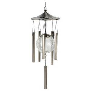 solar lighted wind chimes solar powered lighted wind chimes 214697 decorative