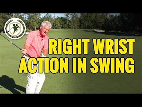 right hand action in golf swing right wrist action in the golf swing keith barker golf