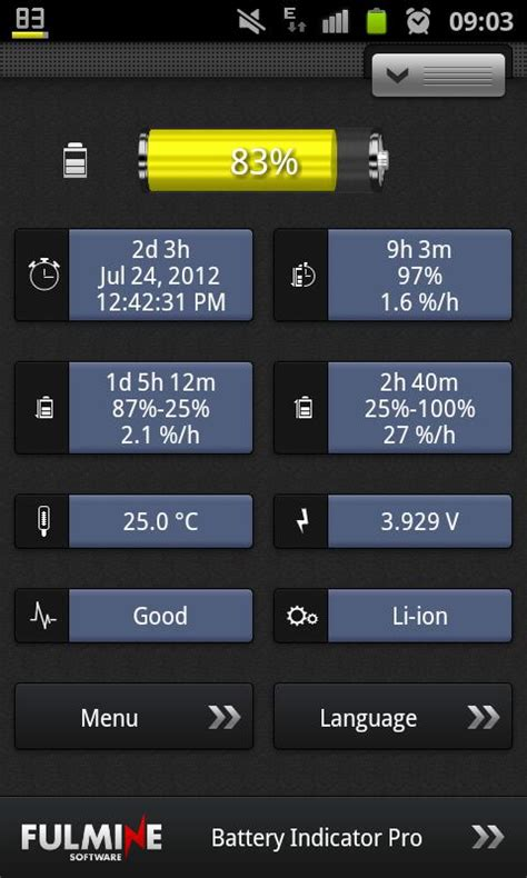 battery indicator apk battery indicator pro screenshot