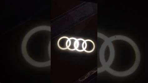 genuine audi puddle lights genuine audi led entry puddle lights with audi rings