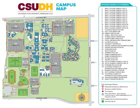 Https Www Csudh Edu Mba Academics Program by Cus Map Directions