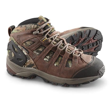 s browning 174 waterproof hiking boots mossy oak