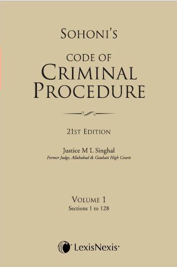 criminal procedure code sections code of criminal procedure vol 1 sections 1 to 128 2014