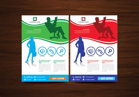 business flyer design vector free download vector business brochure flyer design vector download