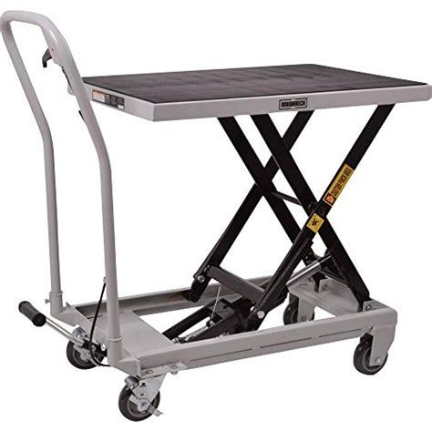 hydraulic lift table cart roughneck hydraulic table cart 500lb capacity scissor