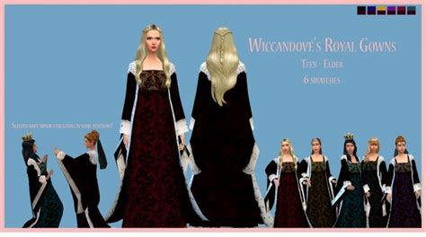 medieval sims 4 medieval gown for royals by wiccandove at simsworkshop