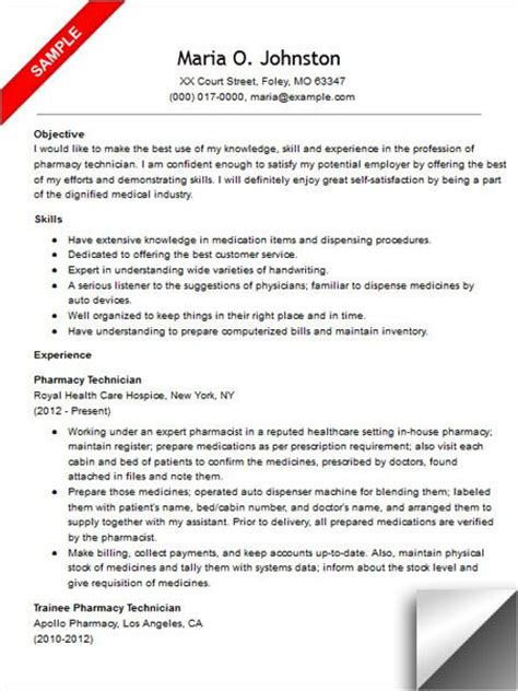 Pharmacy Technician Resume Exles by 223 Best Images About Riez Sle Resumes On Entry Level Customer Service Resume