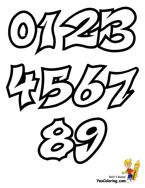 printable graffiti numbers free fearless graffiti coloring pages you can print out