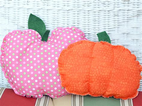 Pumpkin Pillow Pattern by Free Pattern Apple And Pumpkin Stitched Pillows