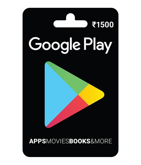 Printable Google Play Gift Card - buy google play gift card rs 1500 online on snapdeal