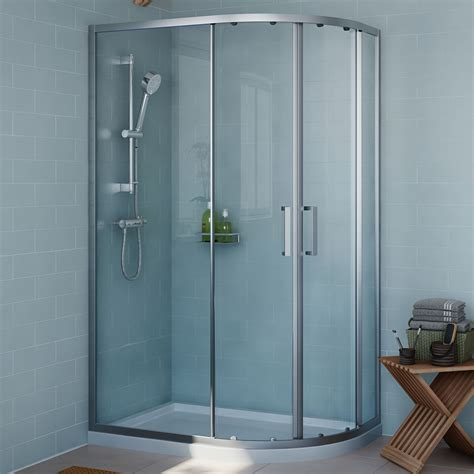 B And Q Shower Doors Cooke Lewis Exuberance Offset Quadrant Shower Enclosure With Sliding Doors W 1200mm D