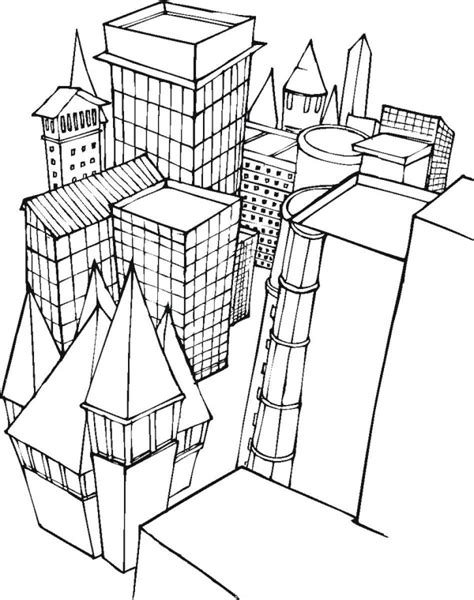 city coloring pages free city buildings coloring pages