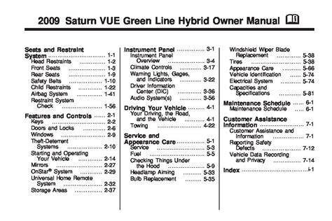 small engine service manuals 2004 saturn vue instrument cluster saturn 2009 vue owners manual pdf download autos post