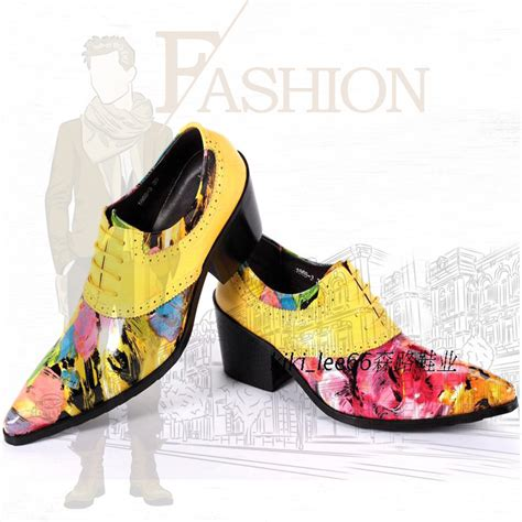 colorful handmade genuine leather dress shoes