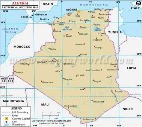 algeria map with cities algeria map map travel holidaymapq