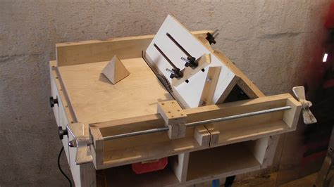 how to build a table saw bench homemade table saw sledge part 4 jig to build