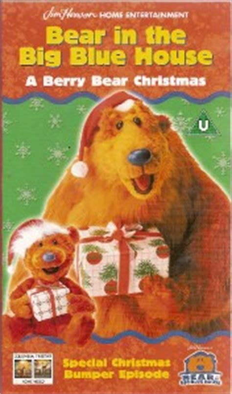bear inthe big blue house christmas bear in the big blue house a berry bear christmas vhs ebay