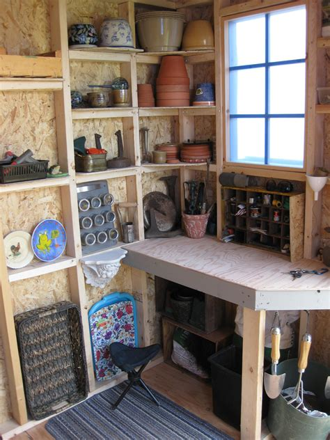 tools  woodworking shop shed interior storage shed