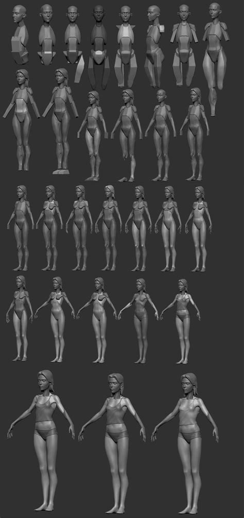 zbrush tutorial female body 188 best images about zbrush tips on pinterest