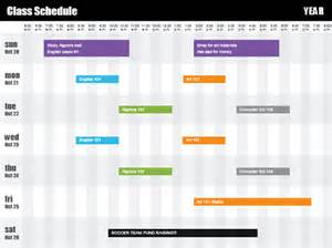 powerpoint schedule template class schedule by time office templates