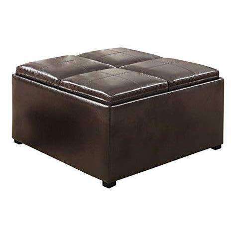 vinyl storage ottoman coaster 501042 dark brown leather vinyl storage ottoman