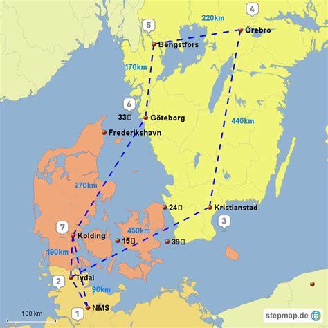 schweden 2011 baden landkarte f 252 r deutschland