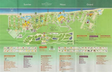 palace resort cancun map southside of area picture of moon palace cancun