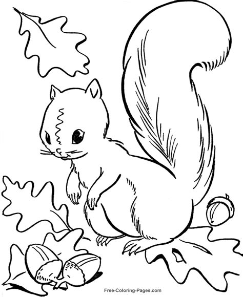 free coloring pages of autumn