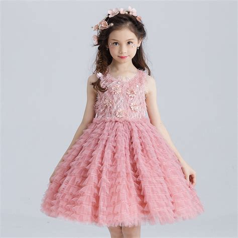 10 year old girls birthday dresses layered girls dress party wear girls clothes flower girl