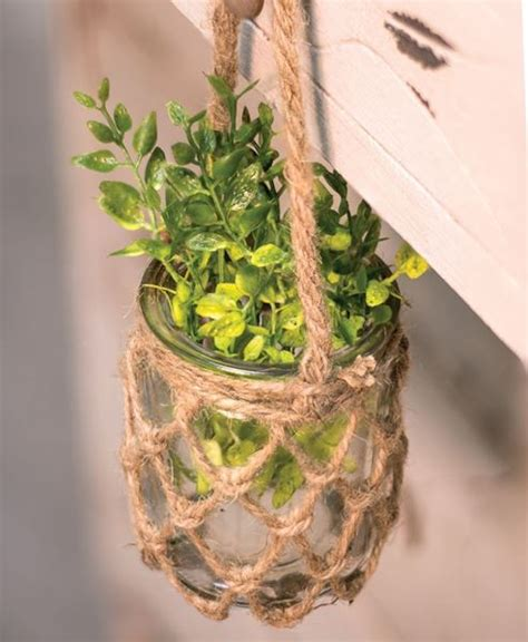 Hanging Rope Planter by Craft House Designs Hanging Rope Planter