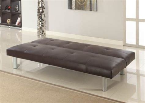 brown faux leather sofa bed faux leather canterbury brown and black sofa bed 3 seater click clack sofabed ebay