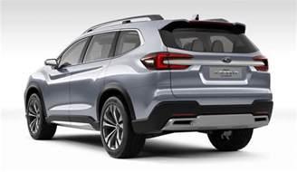 Subaru Suv Subaru Ascent Suv Concept Unveiled At Nyias Motorward