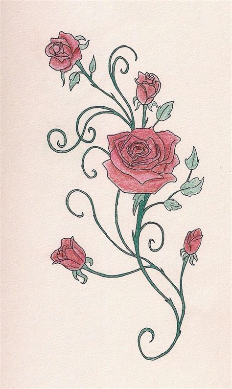 rose tattoos with vines cool tattoos bonbaden