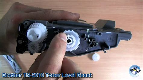 brother hl 1110 toner reset gear how to reset toner level on brother tn2010 tn2220 tn 2010