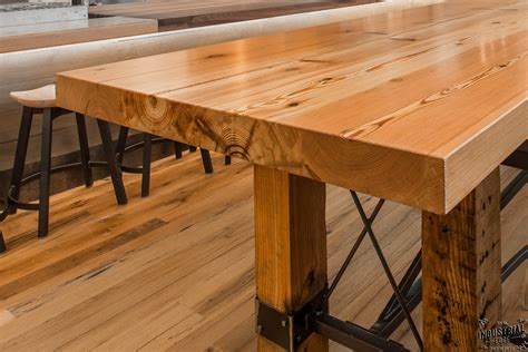 built in table in kitchen