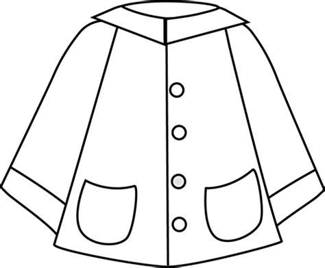 rain jacket coloring page black and white raincoat clip art weather pinterest