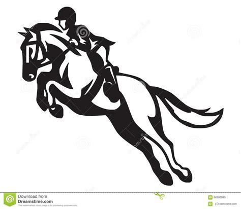 Girls Bedroom Themes logo de cheval d 233 quitation illustration de vecteur
