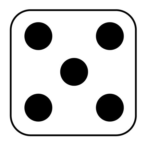printable dice dot cards dots for dice clipart best