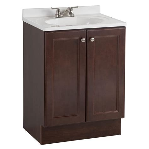 Glacier Bay All In One 24 In W Bath Vanity Combo In All In One Bathroom Vanities