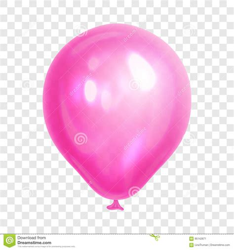 pink balloon wallpaper realistic pink balloon on transparent background stock