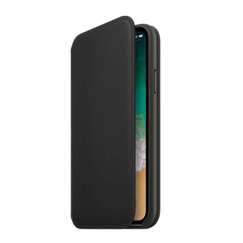 Apple Iphone X Leather Black apple iphone x leather folio black apple from