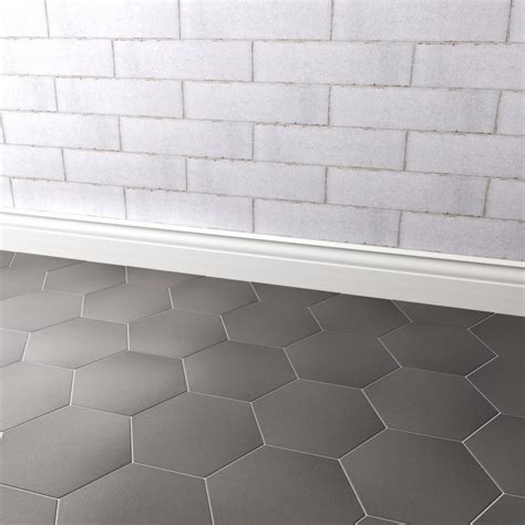 Hexagon Matt Dark Grey Tile 20 x 17.4cm   Al Murad
