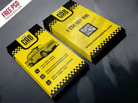 free taxi cab business card templates taxi cab service business card template psd psdfreebies