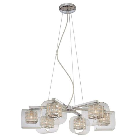George Kovacs Chandelier George Kovacs 6 Light Chrome Chandelier P806 077 The Home Depot
