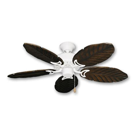 White Leaf Ceiling Fan by 42 Quot Tropical Ceiling Fan With Light Kit 300w Max