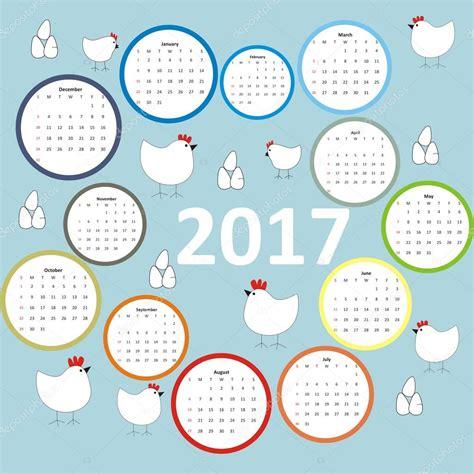 Calendrier Doodle Design Kalender 2017 Jahr Doodle H 228 Hne Und Hennen